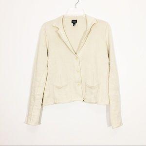 Eileen Fisher cardigan sweater oatmeal long sleeve